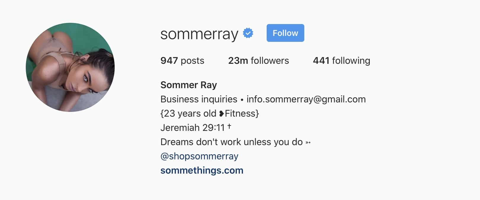Sommerray Instagram