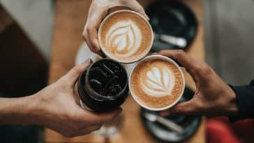 Cover photo showing three cups of coffee as part of the coffee diet