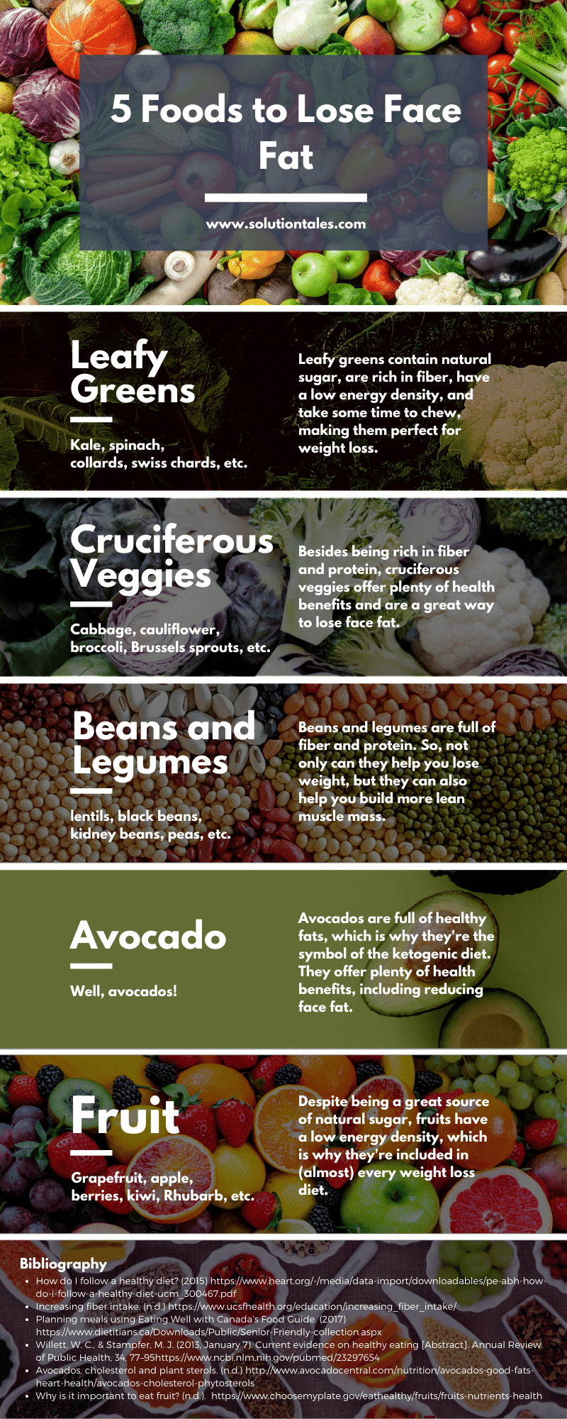 Which Foods Make You Lose Face Fat - Infographic by Solutiontales.com